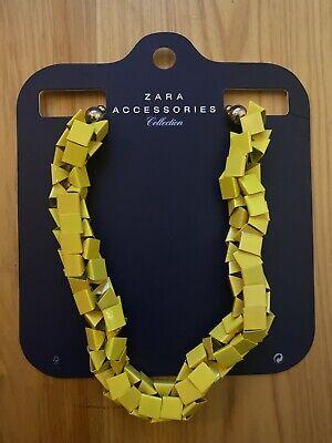 Womens Zara Necklace Yellow Geometric Shape NWT