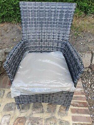 Maze Rattan Garden Armchair Grey Chair with free cushion
