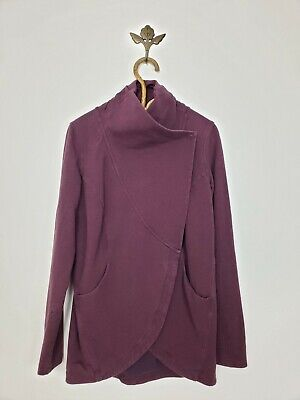 Lululemon That's a Wrap Sweater Heathered Bordeaux Drama Burgundy Womens Size 8