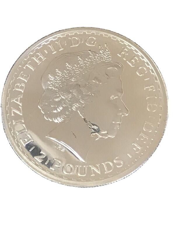 2012 1 oz Silver Britannia Coin UK Great Britain Queen Elizabeth II
