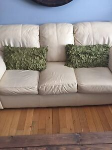 Practically new set of Sage green accent pillows