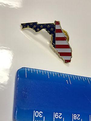 Florida State Lapel Pin FL US Flag American USA Patriot Politics