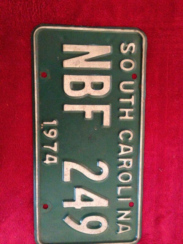 1974 South Carolina License Tag