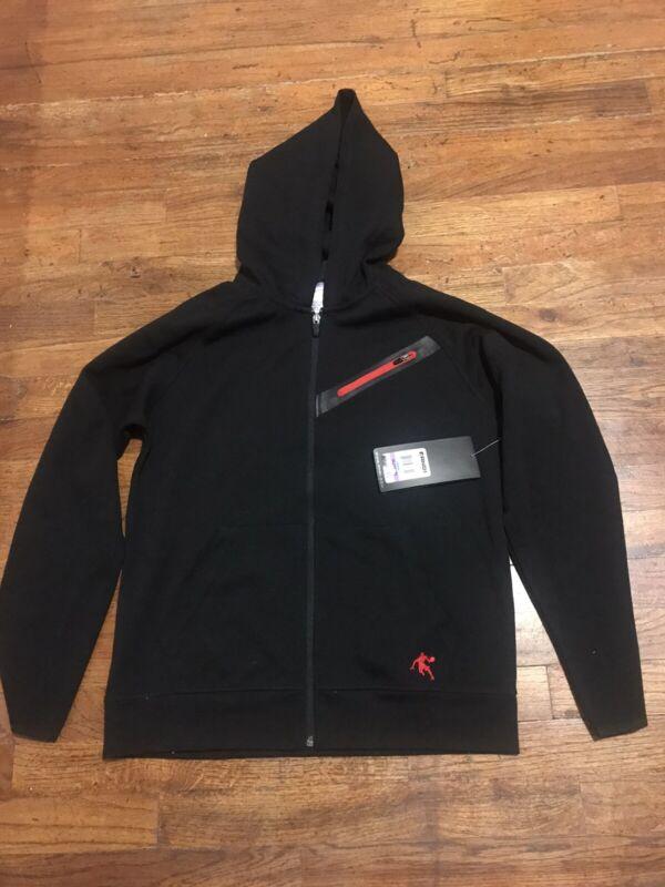AND1 Boys Black Zip Up Hoodie XL