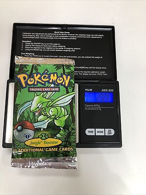 1999 Pokémon TCG Jungle Booster Pack 1st Edition Cards Weighed 20.9