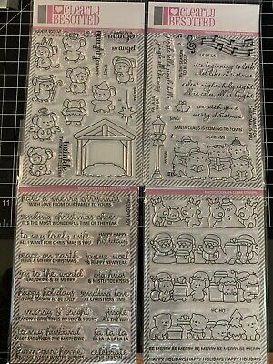 CLEARLY BESOTTED Stamp Sets Christmas Line Up Sentimental Nativity Play -