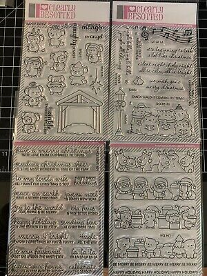CLEARLY BESOTTED Stamp Sets Christmas Line Up Sentimental Nativity Play Sing Line Stamp Sets