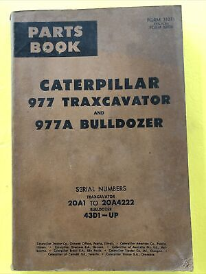Vintage Caterpillar 977 Traxcavator 977a Bulldozer Parts Book Catalog