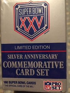 Silver Anniversary NFL commemorative card set