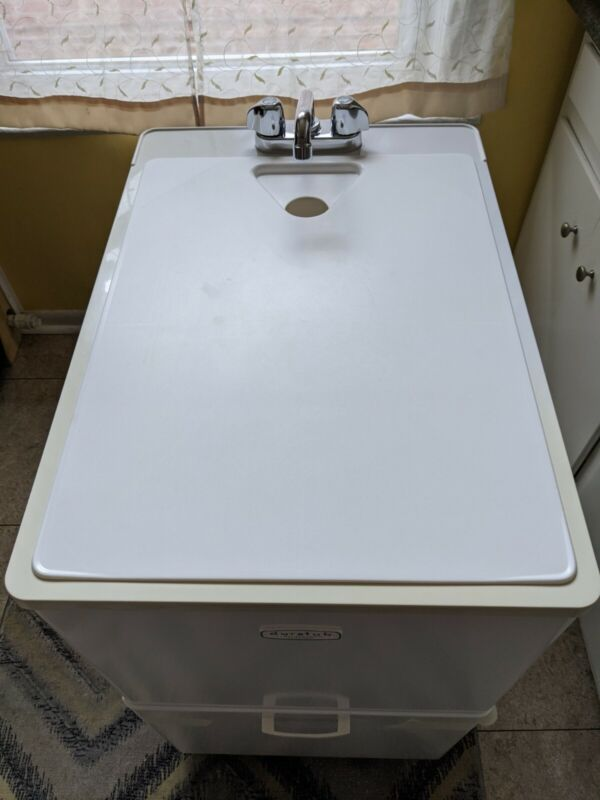 Laundry Tub with Drain and Faucet duratub E.L.mustee &sons.inc.