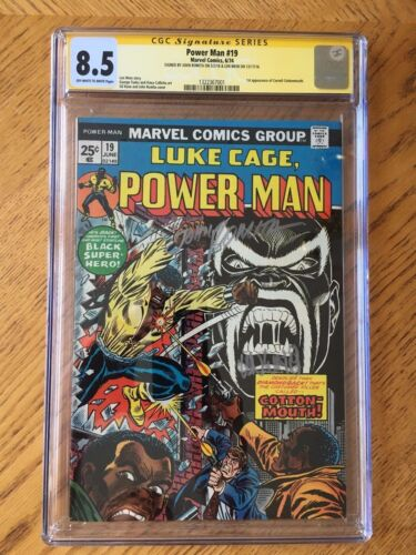 Power Man #19 1st Appearance Cornell Cottonmouth Signed Len Wein Romita CGC 8.5
