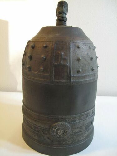 Very Rare Large Korean  Joseon Dynasty Buddhist Temple Bronze Bell