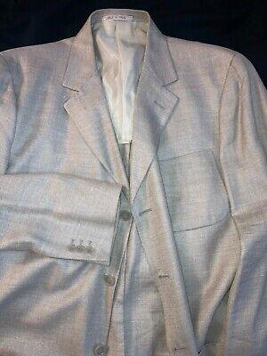 Ermenegildo Zegna Soft Sport Wool Silk Linen Coat Jacket 56 IT (46)