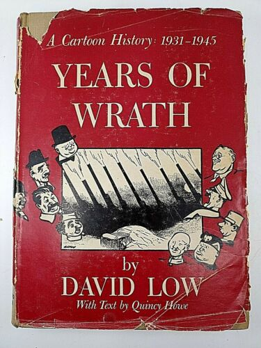 WW2 British Years of Wrath Cartoon History 1931 to 1945 Reference Book