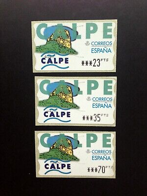 ESPAÑA.AÑO 1999.ETIQUETA POSTAL CALPE (SERIE COMPLETA).