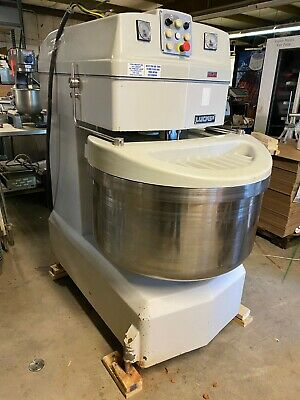 Lucks Sm160 Commercial Large Volume Bakery Spiral Dough Mixer 352 Lbs Tested