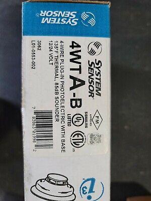System Sensor Photoelectric I3 Smoke Detector 4wta-b