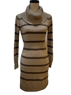 Old Navy Womens Sweater Dress Cowl Neck Long Sleeve Size XS Striped - XS