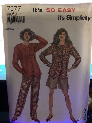 It s So Easy Simplicity 7977 Misses Pants Shorts Top Size 6-8-10-12-14-16-18  - $2.95