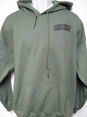 ARMY RANGER HOODED SWEATSHIRT/ HOODIE/ MILITARY/ NEW/ front print only