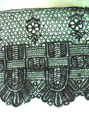 lace guipure of the PUY bobbin - 4m20 in width 23 cm - Napoleon III