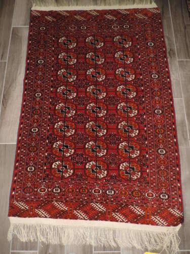 3x6ft. Tekke Turkoman Bokharra Wool Rug