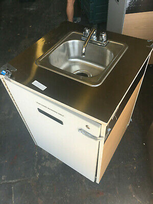 Dent Sale Millwork Portable Sink On Caster Self Contained Heater Mobile Faucet