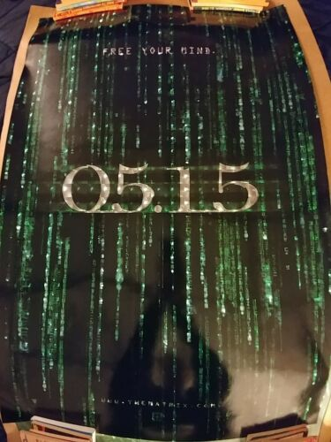 Matrix Reloaded Original Movie Poster 27x40 Advance Holofoil B
