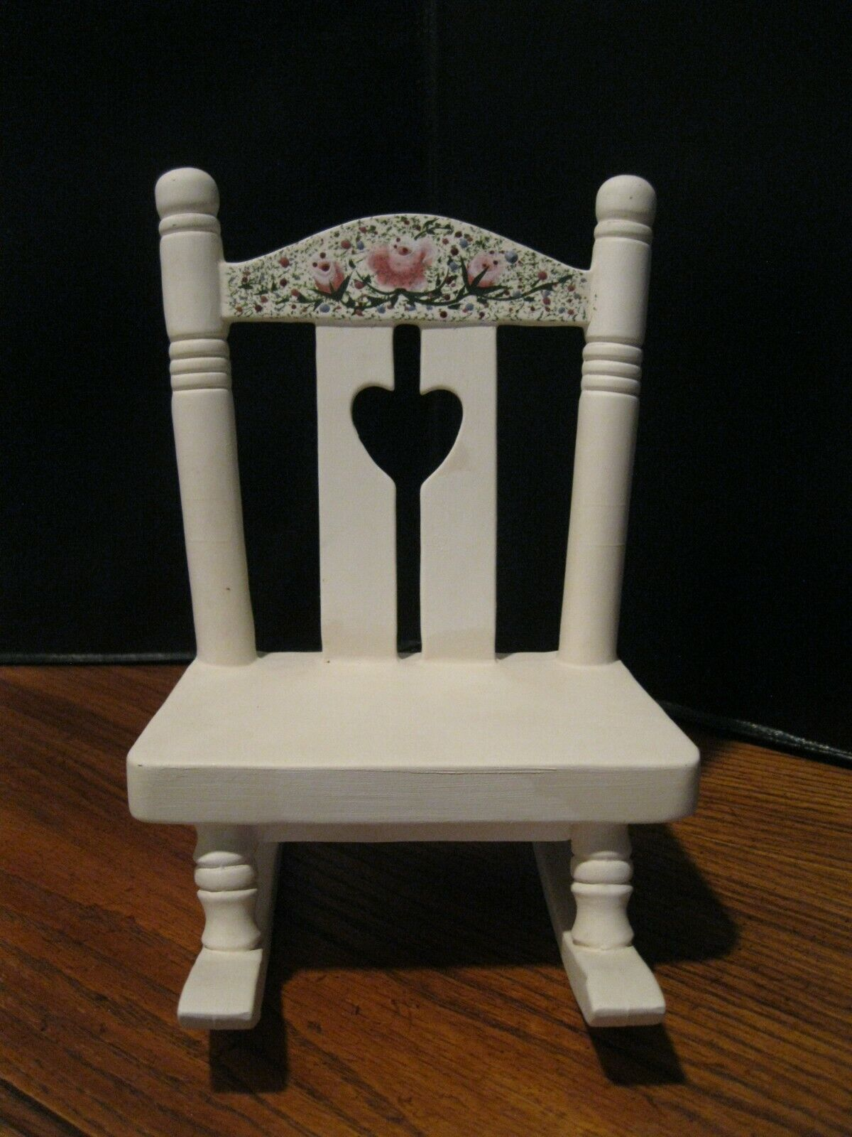 Vintage PORCELAIN BISQUE ROCKING CHAIR Doll Furniture Artisan Made Hand Painted - $29.99