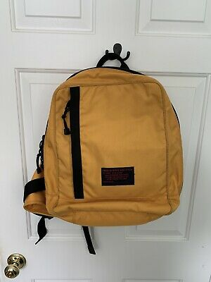 Vintage Abercrombie & Fitch A-12 Yellow Backpack 90's Style 47362 A&F Messenger