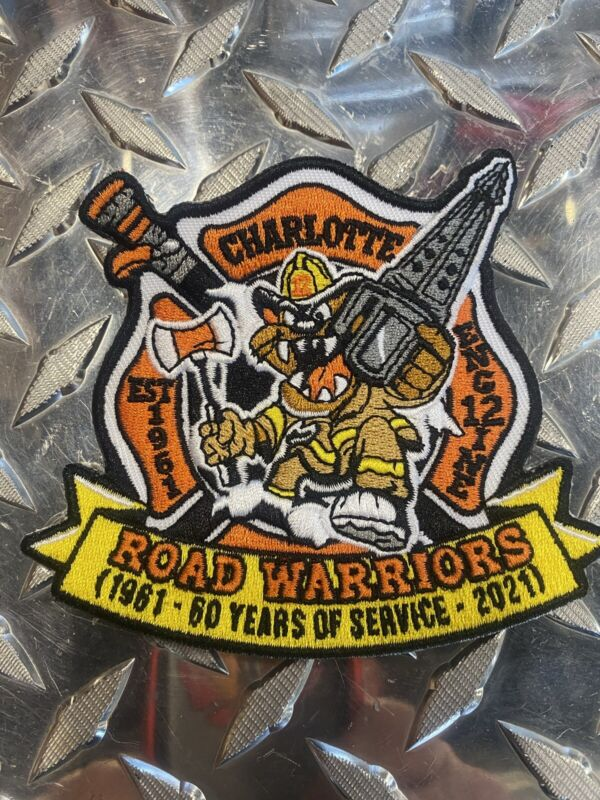 """Charlotte Fire Station 12 """"Roadwarriors """" 60 Year Anniversary Patch"""