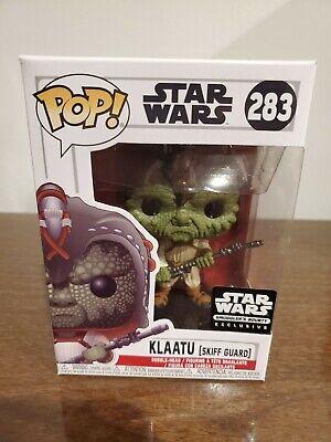 Funko POP! Star Wars #283 Klaatu Skiff Guard Smuggler's Bounty double boxed