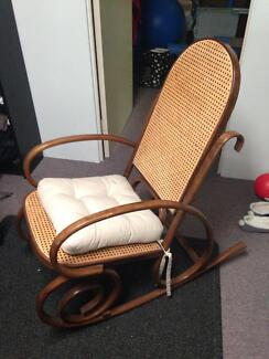 Bentwood Wooden Rocking Chair Gosnells Gosnells Area Preview