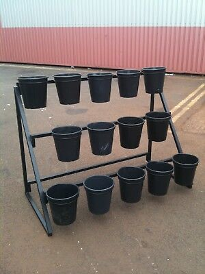 FLOWER BUCKET STAND, 14 BUCKET DISPLAY STAND