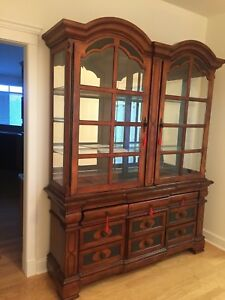 Real wood China cabinet brand new never used