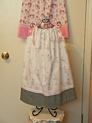 PRETTY Pillowcase Dress Handmade w/Ballerinas Cotton Fabric for Girls 5- 6, NEW