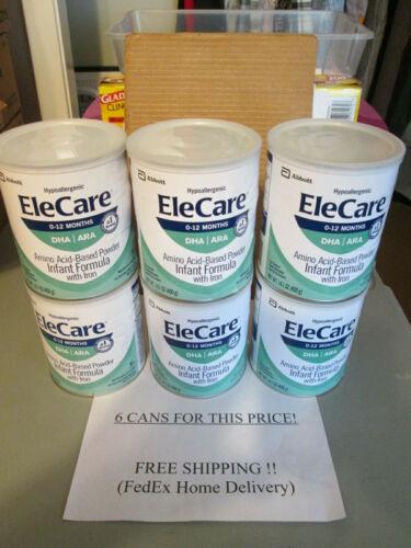 EleCare Infant Formula, 6 cansX14.1oz, expire AUG2023, FRESHEST 4 YOUR BABY!
