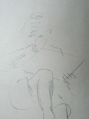 Franklin White (1892-1975) Original drawing - Full Prov (lk Henry Tonks Slade)#