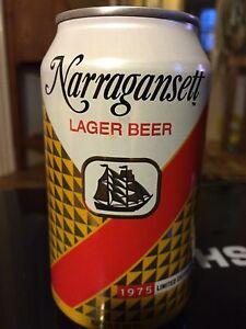 Narragansett Lager Beer 1975 Retro Label Jaws Can Movie Quint Shark.