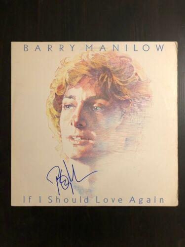 BARRY MANILOW SIGNED AUTOGRAPH - VINYL ALBUM RECORD LP - IF I SHOULD LOVE AGAIN
