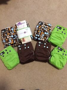 """Reusabe """"Funky Fluff"""" Cloth Diaper Set (Brand New, Never Used)"""