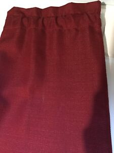 4 panels of burgundy rod-pocket fabric panel curtains