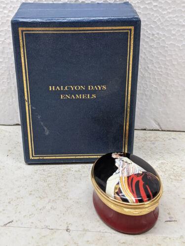 Halcyon Days Enamel Trinket Box, 40th Anniversary of Queen Elizabeth II 214/250