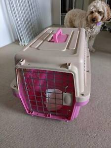 Medium Dog Cat Crate Pet Carrier Airline Cage With Bowl