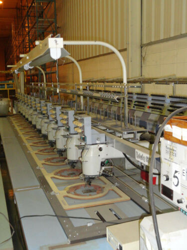 BARUDAN 12 STATION / 5 NEEDLE / 5 COLOR EMBROIDERY MACHINE - USED