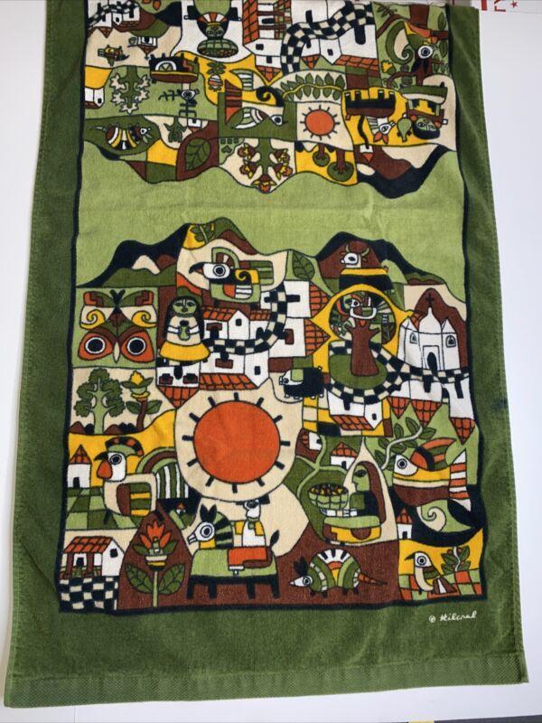 Vintage Hilasal Towel Northwest Native Indian Design Signed