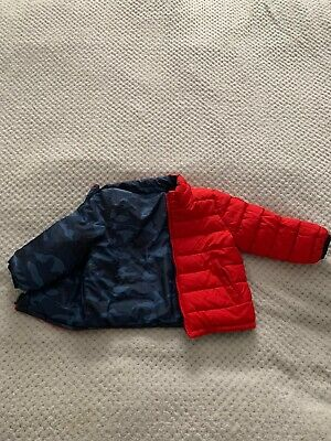 Baby Boys Gap Coat Jacket Two Sided Red Size 18-24