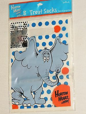 ~HORTON HEARS A WHO   Dr SEUSS ~ 8-LOOT--TREAT  BAGS PARTY SUPPLIES  - Dr Who Party Supplies
