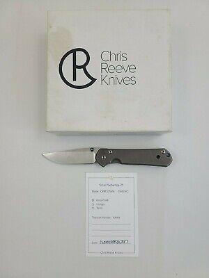 Small sebenza 21 Folding Knife Chris Reeve Titanium S35vn