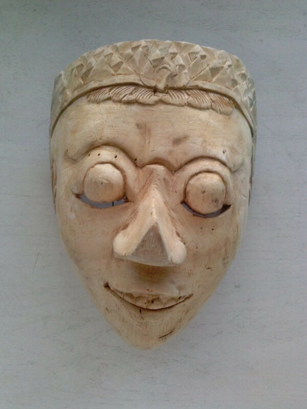 VERY OLD/VINTAGE BALINESE/ INDONESIAN WOOD JAVA TOPENG MASK. UNIQUE!